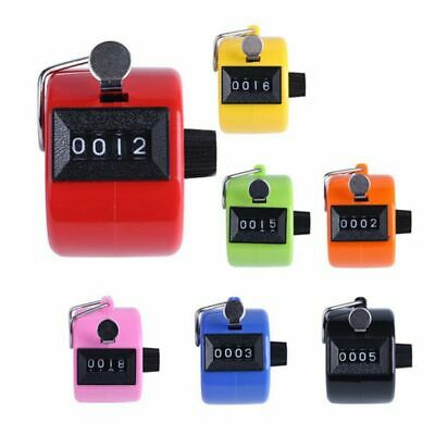 4 Digit LCD Mechanical Counter Hand Tally Number Manual Palm-Clicker Counting US - Hand Tally Counter