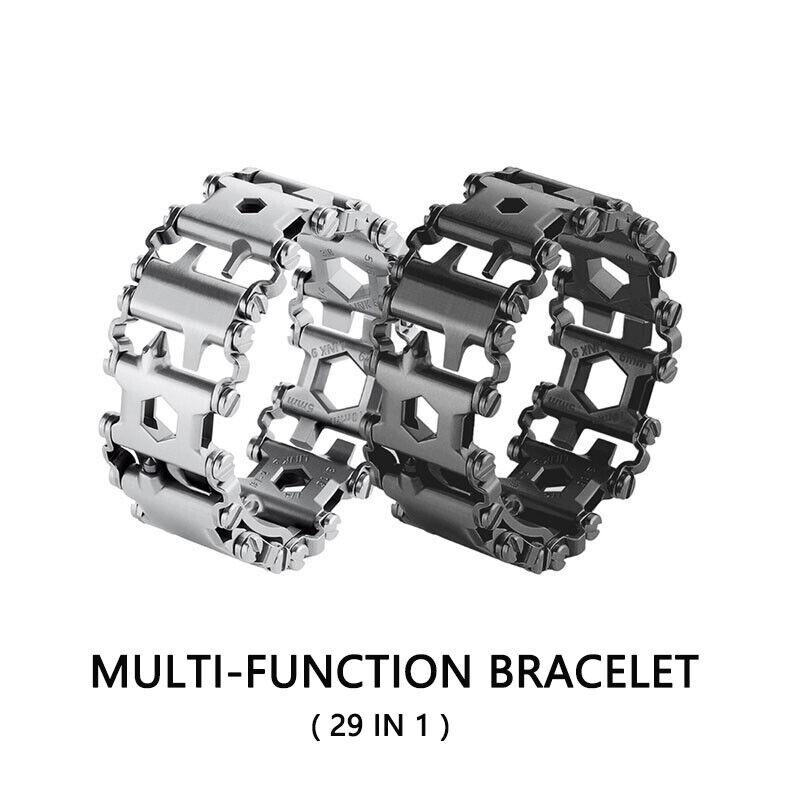 29 in 1 Men Gift Multi-function Bracelet Wearable Stainless Outdoor Tools Bolt