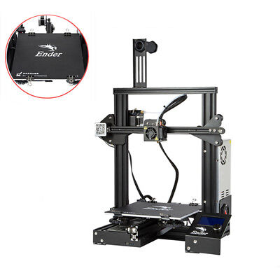 New Manifestation Creality Ender 3 3D Printer With Removable Build Plate DC 24V 15A