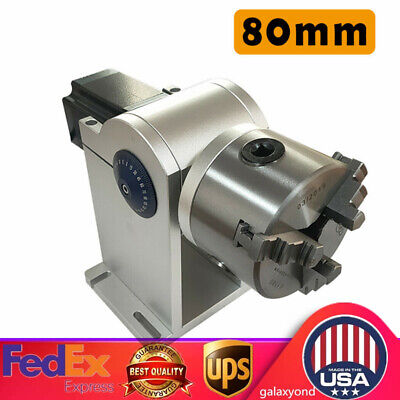 80mm Rotary Axis Rotary Chuck Rotating Shaft Stepping Driver For Laser Marking