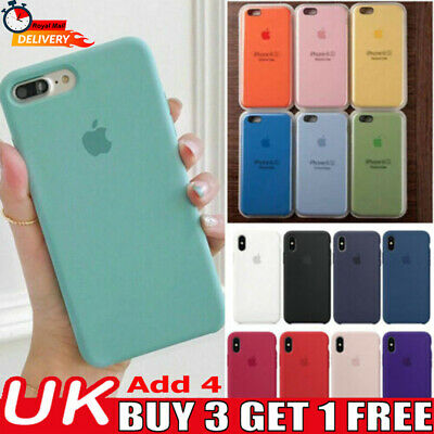 Case For Apple iPhone 11 XS Max XR 8 7 6 Original Hard Silicone Phone Cover UK