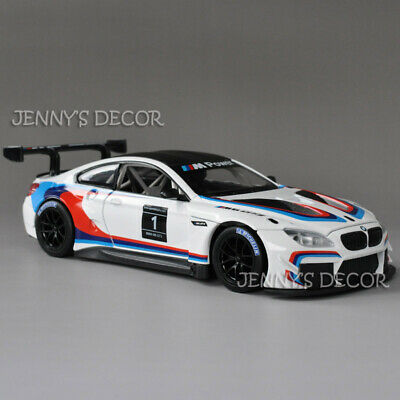 Metal Speed Zone 1:24 DieCast Racing Car Model BMW M6 GT3 Replica Collection
