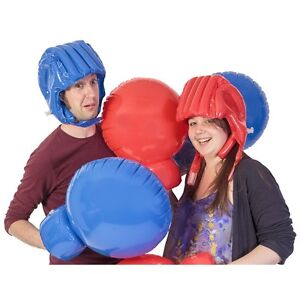 Giant Inflatable Boxing Match Game Toy Set - Gloves & Head Guards  08737