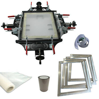 Screen Printing Stretching Kit With Stretcher 4pc Aluminum Frame Art Printing