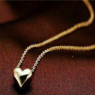 Women Gold Plated Heart Bib Statement Pendant Necklace Jewelry w/ 17″ Chain Fashion Jewelry