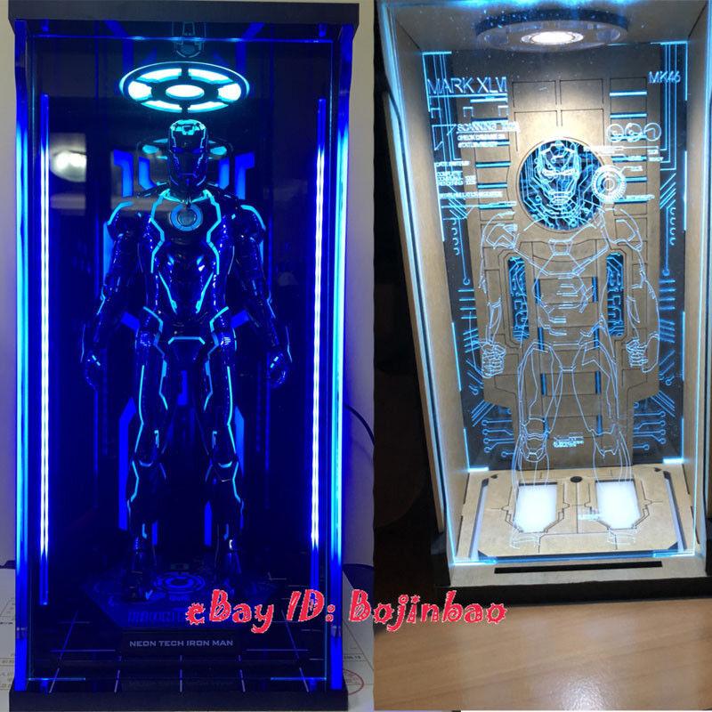 1//6 TOYS-BOX IRON MAN HANGAR 4.0 MK4 Figura Box Case Scatola di visualizzazione modello