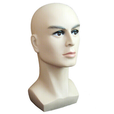 Male Mannequin Head Wigs Hair Hat Cap Glasses Display Head Moldel Free Stand New