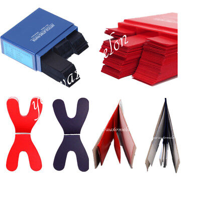 120200300x Articulating Paper Dental Horseshoe Rectangle Thick Strips Bluered