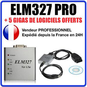 c ble interface elm 327 pro usb diagnostique auto logiciel en francais ebay. Black Bedroom Furniture Sets. Home Design Ideas