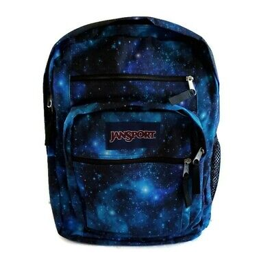 "Jansport Big Student Galaxy Backpack New Fits 17.5"" Blue Stars"