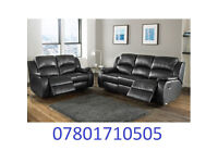 sofa lazy boy recliner sofa black real leather BRAND NEW 797