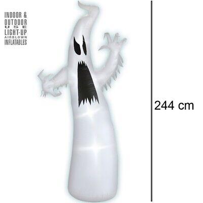 Aufblasbarer LEUCHTENDER GEIST mit Ventilator 244cm Halloween Party Deko #5041