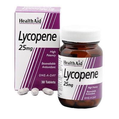 HealthAid Lycopin 25mg - Natur bioverfügbar Antioxidant 30 Tabletten