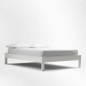West Elm Simple White Bed Frame (Queen)