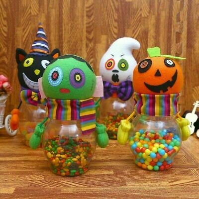 Cute Candy Jar Gift Ghost Pumpkin Bottle Party Room Table Decoration Classroom ()