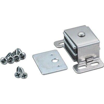 Heavy Duty 8 lb Zinc Screw On Double Magnetic Cabinet Door Catch + Strike 50760