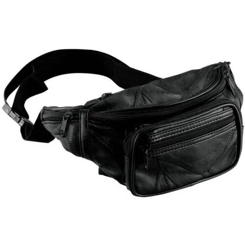 NEW Embargo Leather Fanny Pack- Mens Waist Belt Bag -Womens Purse Hip Pouch Travel