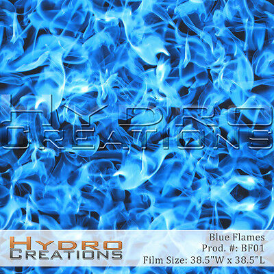 Hydrographic Film Hydro Dipping Water Transfer - Blue Flames 38.5 X 38.5