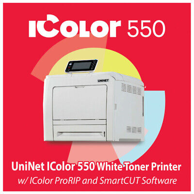 Uninet Icolor 550 White Toner Printer Pro Rip Smart Cut Free Shipping