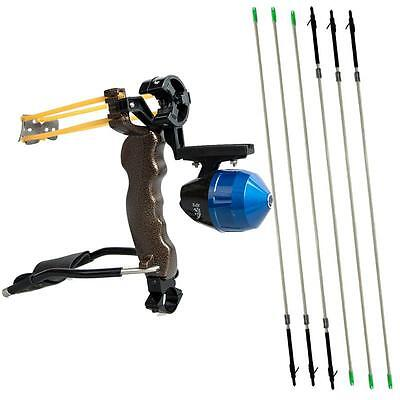High Velocity Hunting Bow Fishing Slingshot Catapult Archery Carbon Arrows Rest