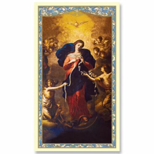 Mary Untier of Knots Holy Card - 5 Pack - Powerful and Miraculous Prayer Card