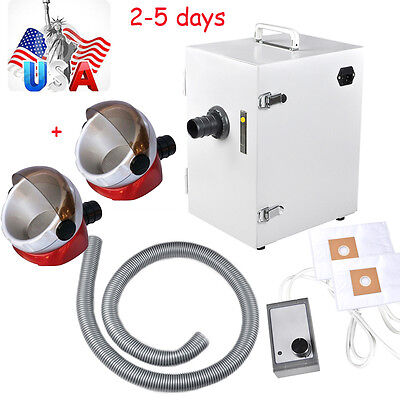 Usa Dental Lab Digital Single-row Dust Collector Vacuum Cleaner 2 Suction Base