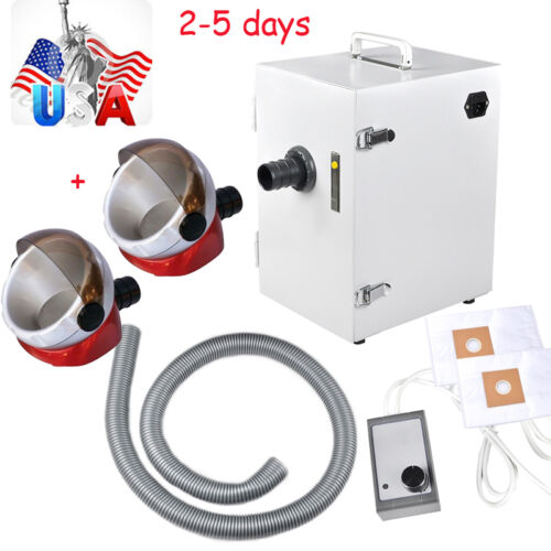 USA Dental Lab Digital Single-Row Dust Collector Vacuum Cleaner + 2 suction base
