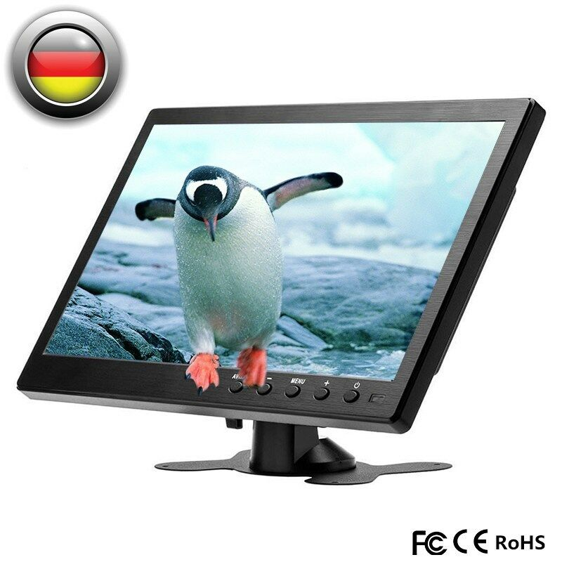10.1 Zoll HD 1280x800 Farbe Bildschirm PC Home TV Monitor USB/VGA/AV/BNC/HDMI
