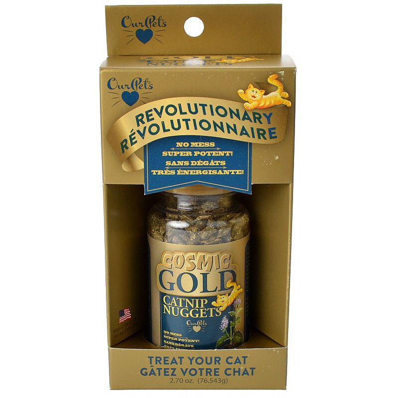 Our Pets Cosmic Gold Catnip Nuggets Cat Treat 3 oz.