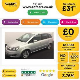 Vauxhall/Opel Zafira 1.7CDTi 16v ecoFLEX FROM £31 PER WEEK
