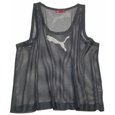 PUMA Running Men's Training Logo String Vest - XL - Light Blue/Charcoal - New