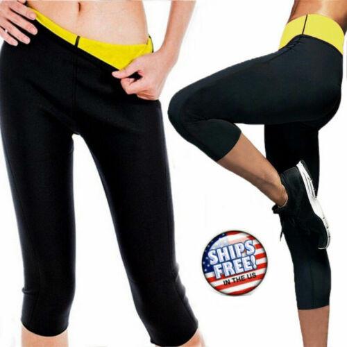 Women Gym Thermo Neoprene Sweat Sauna Body Shaper Pants Weig
