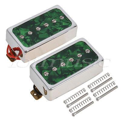 Verde Pearl Individual Bobina Puente Cuello Pickups Set Para Guitarra Eléctrica