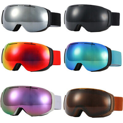 Magnetic Ski Goggles, OTG Frameless Snow Snowboard Goggles  with Interchangeable