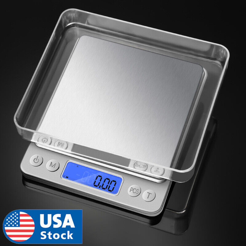 Digital Scale 2000g x 0.1g Jewelry Gold Silver Coin Gram Pocket Size Herb Grain Jewelry & Watches