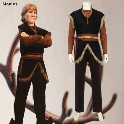 Comic Con Outfit (Frozen 2 Kristoff Costume Cosplay Halloween Men Anime Outfit Comic Con Party)