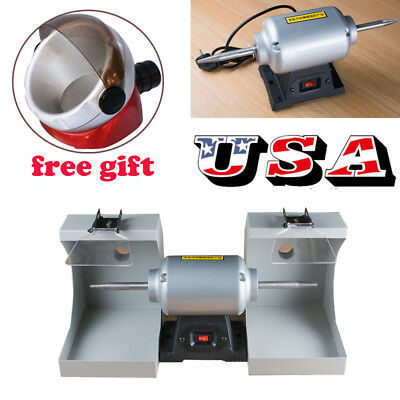 Us Dental Lab Jewellry Polishing Lathe Casting Machine Vacuum Pipesuction Base