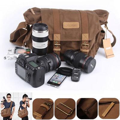 Universale Macchina Fotografica Borsa a Tracolla Zaino Bag Per Canon Nikon Sony