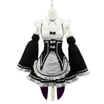 Re:Zero Kara Hajimeru Isekai Seikatsu Rem Maid Dress Cosplay Costumes S/M/L](Zero Costumes)