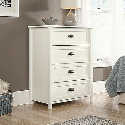 خزانة جديد Sauder 416976 County Line 4-Drawer Chest Soft White New