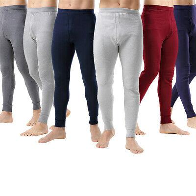 Layer Long Johns (Men Thermal Long Johns Inner Trouser Warm Underwear Cotton Bottom Base Layer)