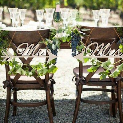 Wedding Rustic Wood DIY Sign Mr & Mrs Arrow Signs Home Party Chair Decor - Wedding Signs Diy