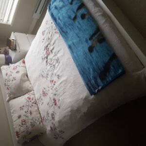 IKEA  malm double bed with matching night table