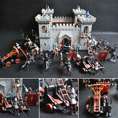 Medieval Castle Toy Knights Catapult Soldiers Infantry Figures Playset History