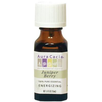 Aura Cacia - Aceite Puro Esencial Enebro Baya Energizante - 0.5 Fl.oz...