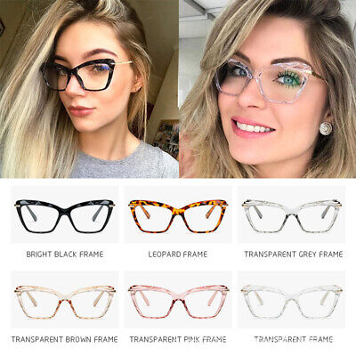 Cat Eye Clear Glasses Frames Women Crystal Eyeglasses Optical Computer (Glass Cat Eyes)