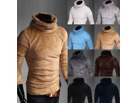 Men's Winter Sweater Turtleneck Jumper SMALL