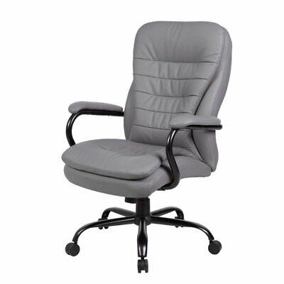 Boss Office Heavy Duty Double Plush Caressoftplus Chair In Gray