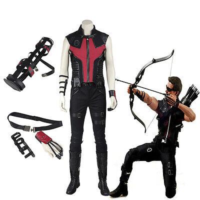 Halloween Superhero The Avengers Hawkeye Clinton Francis Barton Cosplay Costume ](Hawkeye The Avengers Halloween Costume)