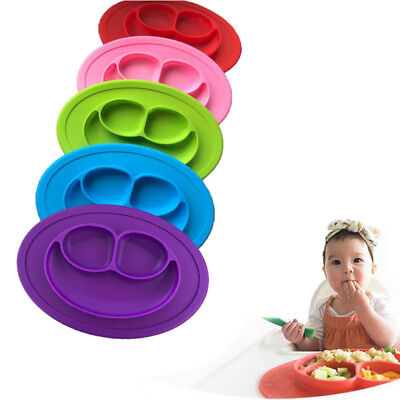 Baby Snack Tray - Baby Snack Mat Silicone Non Slip Happy Toddler Placemat Suction Table Plate Tray